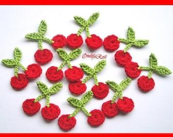 Crochet Cherries Mini 1 piece