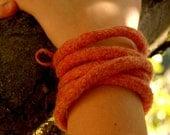 Felted Rope bracelet - multifunctional
