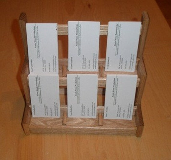 Items similar to Vertical Business Card Holder six 6 slot
