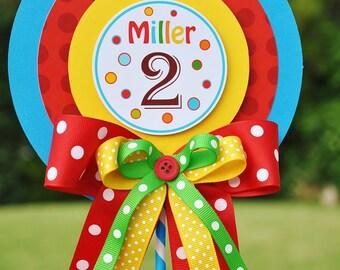 Birthday Centerpiece in Primary Colors, Luxurious XL  Birthday Centerpiece