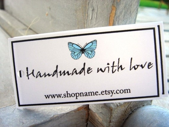 Custom Hang Tags for your products - Set of 50 -You can customize your tag with your own words