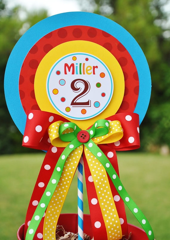 Luxurious XL  Birthday Centerpiece in Primary Colors, Rainbow