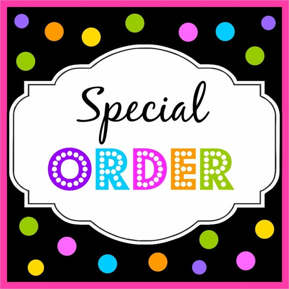 special order for Jordan