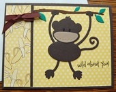 Wild about You Monkey Card