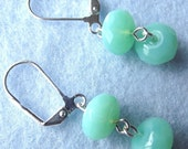 Rondell Beaded Earrings Sparkle and Glamour Sea Foam Green