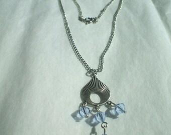Aquamarine Retro Swirl Necklace