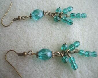 Emerald Drop Dangle Earrings