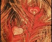 Silk Kimono Fabric Black/Clutch/Purse/Bag..Peacock Feather..Bridal Wedding Gift..Plume..Burnt Orange/Gold..wrap available