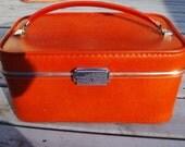 Vintage Invicta Train Case Orange