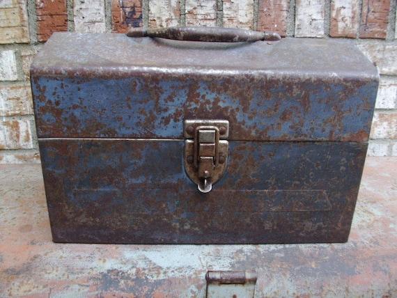 Vintage Metal Industrial Fishing Box