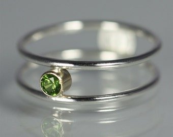 1 Stone Ring 14K (Peridot) made to order