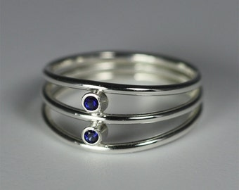 2 Stone Array Ring (Sapphire)