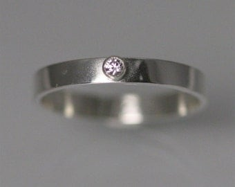1 Stone on Shank Ring, Sm. (Cubic Zirconia) Made to Order