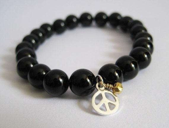 Eat Pray Love  Onyx Meditation Bracelet