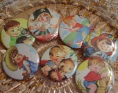 "Retro Mid-Century Little Boys Birthday Favors 2.25"" Pinback Buttons Set of 6 Your Choice"