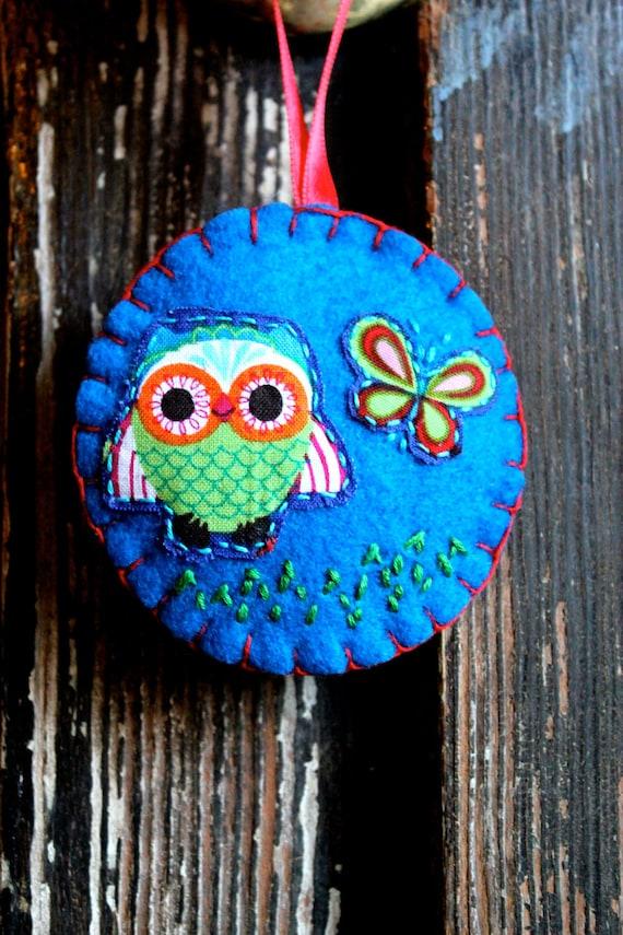 Green Owl Ornament Decoration