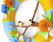 RESERVED Yarn Wreath - Fresh Spring - The Original Handmade Felt Yarn Wreath
