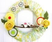 Lemon Lime Yarn Wreath