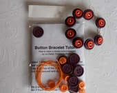 Simple button bracelet kit , includes all materials and tutorial instructions. Make it yourself.