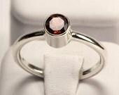 SALE!!! Almandine Garnet Tube Set Ring Handcrafted by TJRJewellery on Etsy