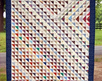 Quilt One Thousand Triangles Art Textile Very Special Offering