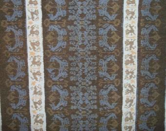 Quilt European Ikat Tapestry Lodge Throw Quilt Smoky Colors Designer Original by artdesignsbydanielle