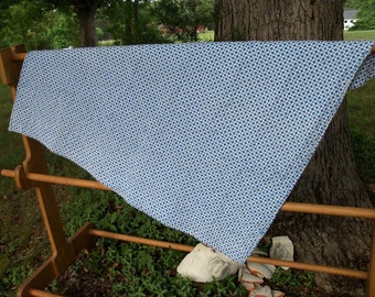 Quilt Geometric Feed Sack Throw Blue & White Small Contemporary Primitive by artdesignsbydanielle