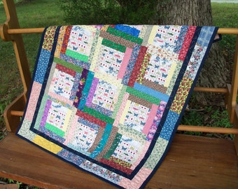 Quilt Butterfly & Dragonfly Lovers Textile Art Wall