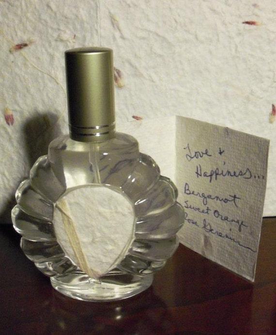 Reserved Kristin Love & Happiness Essential Oil Spray Cologne Perfume Theraputic Blend Bergamot Sweet Orange Rose Geranium