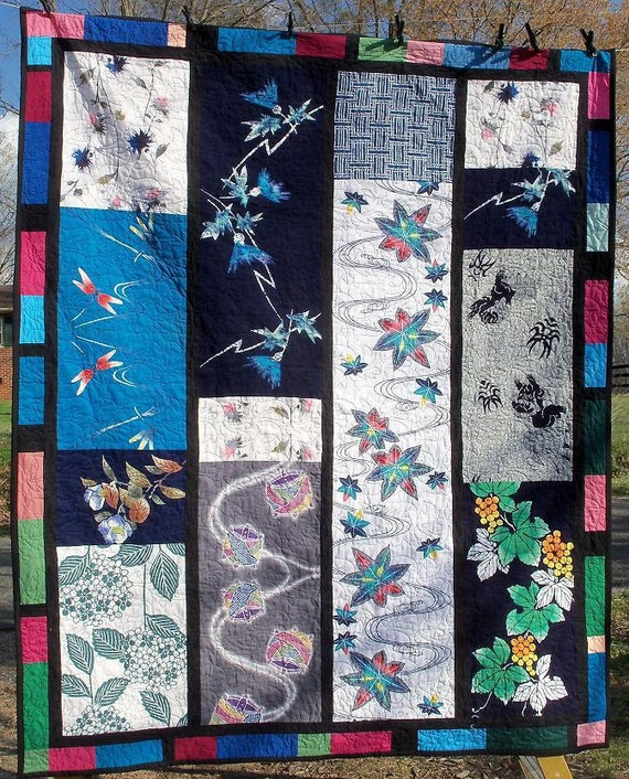Quilt Japanese Art Textile Color Panel Treasury Number One