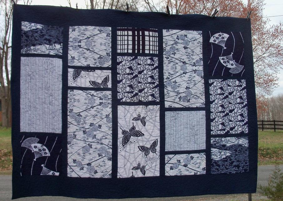 Quilt Japanese Art Textile Indigo Panel Treasury Number One