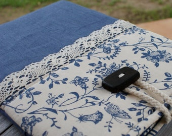 Apple iPad Sleeve Case/ three pockets/ padded/ linen