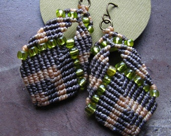 beaded buddha earrings