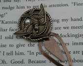 The Hunger Games Inspired Mockingjay Token Bookmark with Beautiful  Freshwater Peeta's Pearl