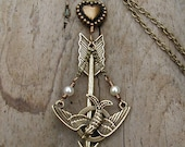 The Hunger Games  Mockingjay and Arrow Necklace