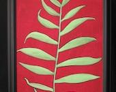 Original Artwork - Botanical Painting - Fern Leaf - 18-1/4 x 14-1/4