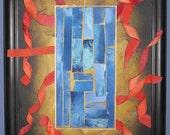 Original Artwork - Mixed Media Framed Painting - 18x14