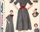 Simplicity 4007 Size 14/Bust 32 - Vintage 1950's Dress and Belts
