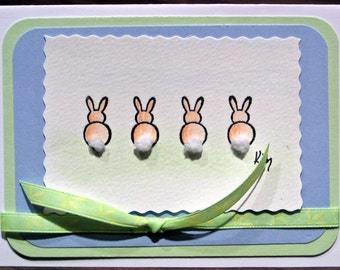 Tiny Cottontails (Little Gift card) Blank Inside