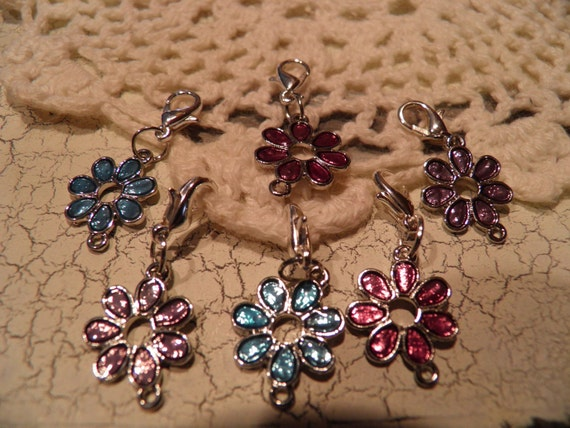 Removable Lobster Clasp Crochet Stitch Markers set of 6