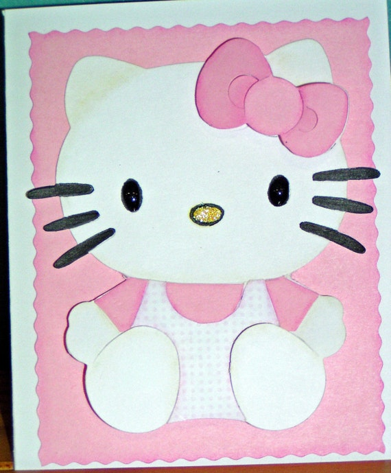 Hello Kitty Card (All Occasion) blank inside you specify Color FREE SHIPPING