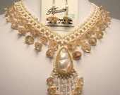 Champagne Dreams Necklace and Earring Set