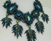 Poseidon's Garden Beadwoven Necklace
