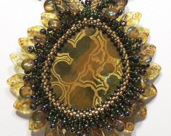 Etruscan Bronze Sunflower Necklace