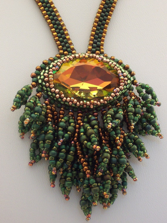 In the Forest Primeval Beadwoven Necklace