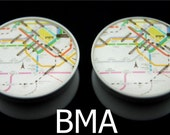 TOKYO TRAVEL MAP 7/8 inch 22mm Plugs BMA