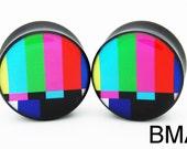 SMPTE Color Bars Plugs 0g 8mm Plugs BMA