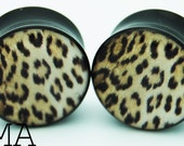 Grunge Leopard Print BMA Plugs 3/4 inch 19mm