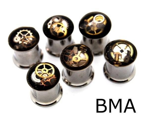 Junkyard Steampunk Watch Parts Plugs 7/16 inch 11mm