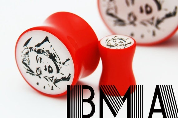 MARILYN MONROE 2g 6mm Plugs BMA